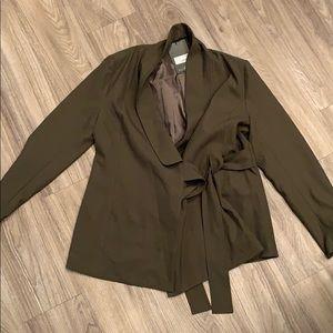 Military green blazer